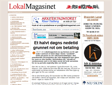 Tablet Preview of lokalmagasinet.no